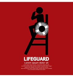 Lifeguard vector image