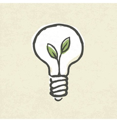 Lightbulb ecology concept vector