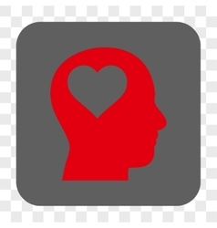 Lover Head Rounded Square Button vector