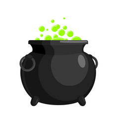 Magic witch cauldron magical boiler isolated on vector