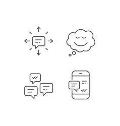 Message comic speech bubble and communication vector