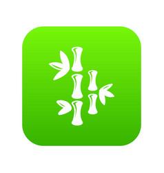natural bamboo icon green vector image