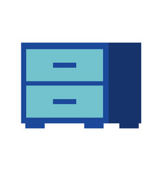 office cabinet furniture organizer icon vector image