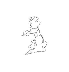 One line united kingdom design silhouette vector