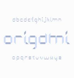 origami font alphabet vector image