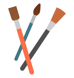 Paintbrush or painting tool school stationery vector
