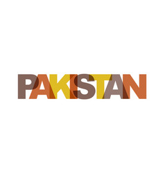 Pakistan phrase overlap color no transparency vector