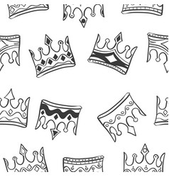 Pattern crown style hand draw vector