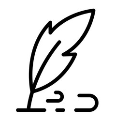 Pen writes icon outline style vector