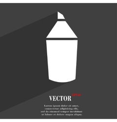 Pencil icon symbol Flat modern web design with vector image