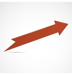 Red arrow icon vector