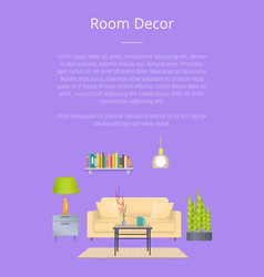 room decor banner colorful vector image