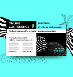 scientific conference webinar and business vector image