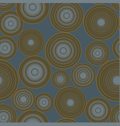 seamless gradient rounds brown and blue vector image