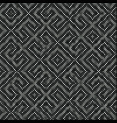 seamless knitted gray worm labyrinth vector image