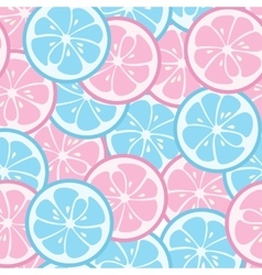Seamless pattern with pink and blue citrus vector