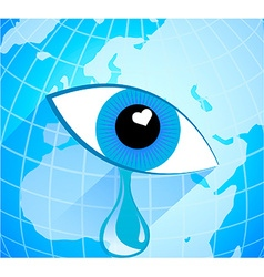 Seeing eye of the earth vector