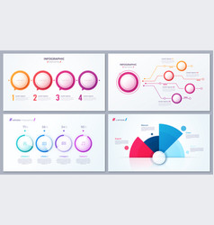 set 4 options infographic designs vector image