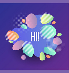 set abstract modern graphic elements dynamic vector image