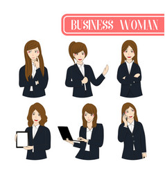 set business woman vector image