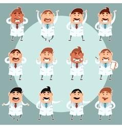 Set of doctors3 vector image