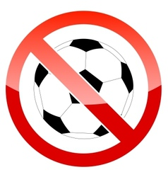 Sign prohibiting a football vector image