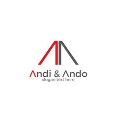 Simple minimalistic letter aa logo vector