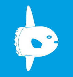 Small fish icon white vector