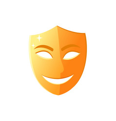 Smiling mask happy face with smile theater icon vector