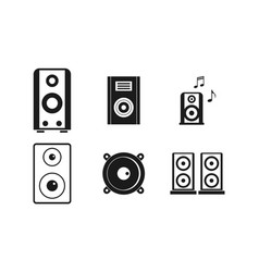 speaker icon set simple style vector image