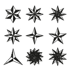 stars grunge icons set vector image