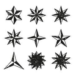 stars grunge icons set vector image