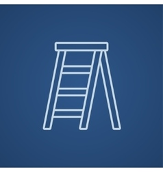 Stepladder line icon vector image