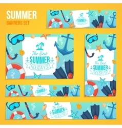 Summer tropic vacation backgrounds design vector image