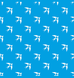 Swallow pattern seamless blue vector
