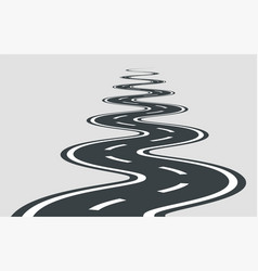 Twisted road template isolated on background vector