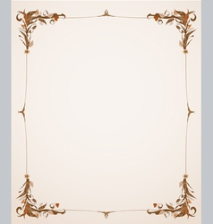 vintage frame with foliage vector image
