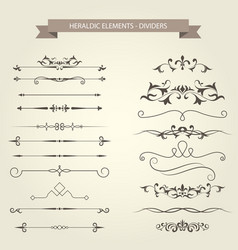 Vintage vignettes dividers and separators vector