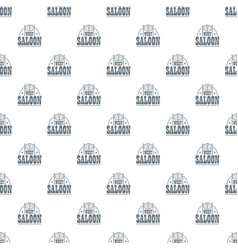 west saloon pattern seamless vector image