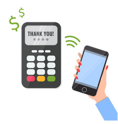 wireless method payment with your smartphone vector image