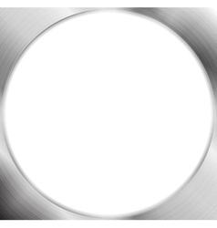 Abstract metallic silver blank circle frame vector image