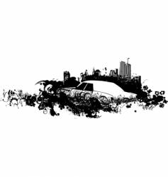 cityscape grunge illustration vector image vector image