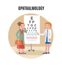 flat ophthalmology medical concept vector image