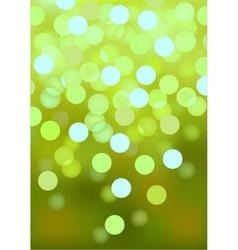 Green festive lights background vector image vector image