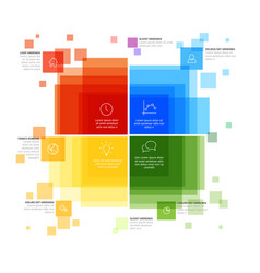 Infographic template with various descriptive vector