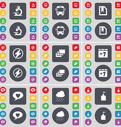Microscope bus file flash gallery plus one chat vector