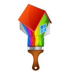 paint brush home vector image vector image