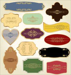 pastel vintage labels vector image vector image