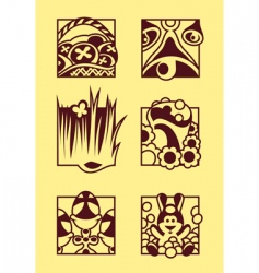set of easter symbols vector image
