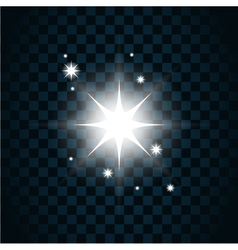 Shine star sparkle icon 2 vector image vector image